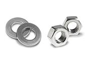 Organe de asamblare pentru structuri metalice – ansamblu piulita si saiba conform ISO4032/ISO7089